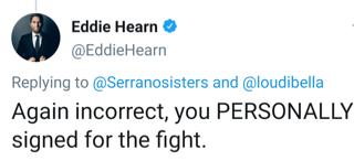 Eddie Hearn corrects Amanda Serrano