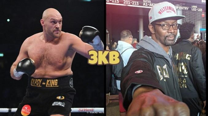 Tyson Fury (left), Mark Breland
