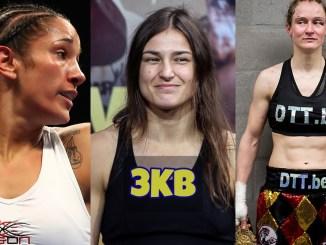 Amanda Serrano, Katie Taylor and Delfine Persoon