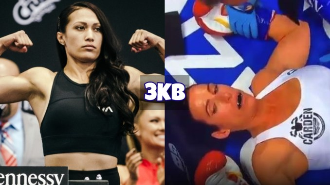 Seniesa Estrada knocks out Miranda Adkins