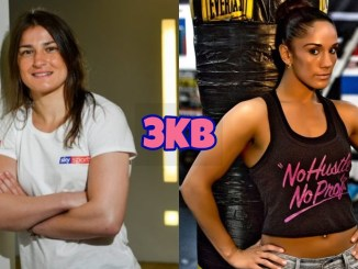 Katie Taylor (left), Amanda Serrano