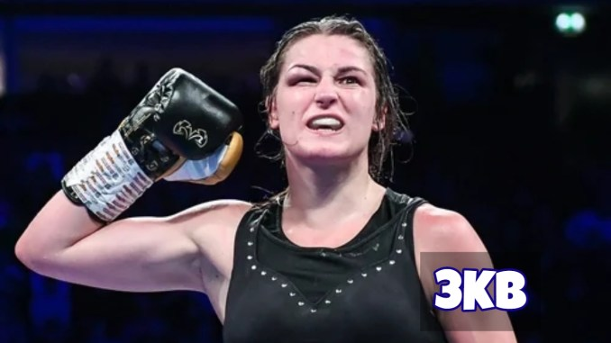 Katie Taylor Celebrates Victory