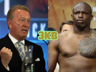 Frank Warren (left), Dillian Whyte