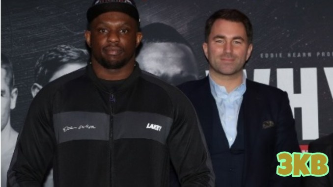 Dillian Whyte (left) and Eddie Hearn