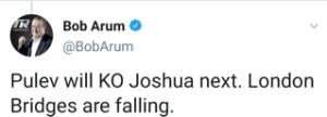 Bob Arum predicts Kubrat Pulev will KO Anthony Joshua