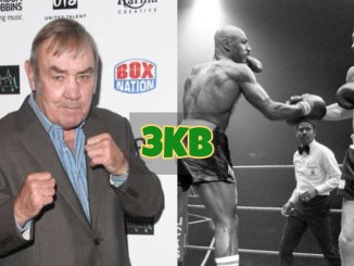 Alan Minter and an image of Minter vs Hagler