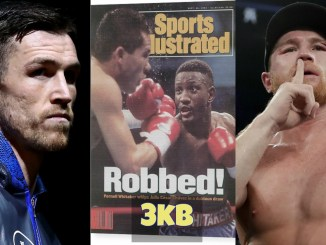 Callum Smith, Sports Illustrated cover featuring Pernell Whitaker and Canelo Alvarez