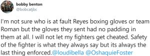Bobby Benton comments on Miguel Roman's glove violation