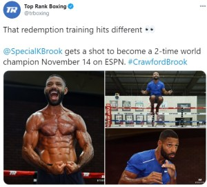 Kell Brook training with redemption in mind