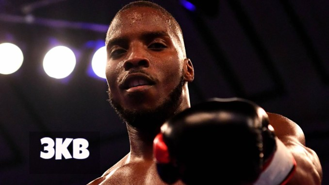 Lawrence Okolie poses for the camrea