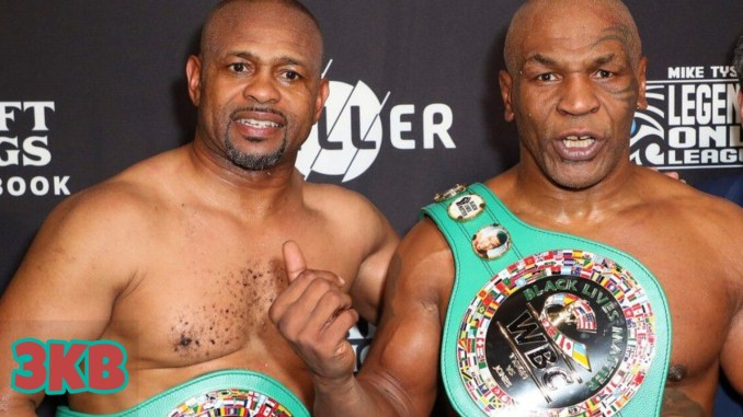 Roy Jones Jr. (left) and Mike Tyson