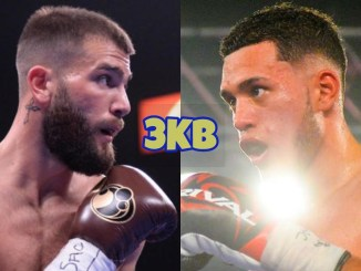 Caleb Plant (left), David Benavidez