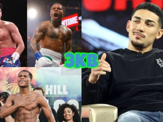 (clockwise from top left) Ryan Garcia, Gervonta Davis, Teofimo Lopez, Devin Haney