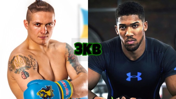 Oleksandr Usyk (left), Anthony Joshua