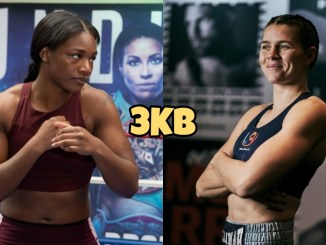 Claressa Shields (left), Savannah Marshall
