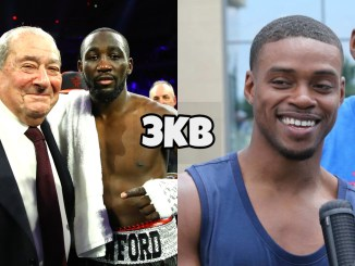 Bob Arum with Terence Crawford (left), Errol Spence