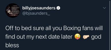 Billy Joe Saunders his May 8 fight date