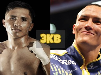 Mauricio Lara and Josh Warrington