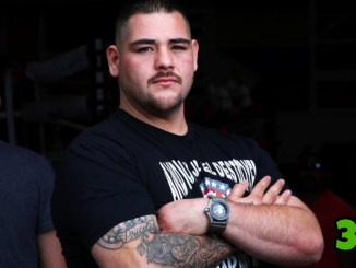 Andy Ruiz poses for the camera