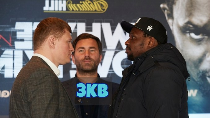 Alexander Povetkin and Dillian Whyte Face Off