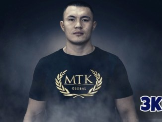 Kamshybek Kunkabayev shows of MTK Global T-shirt.