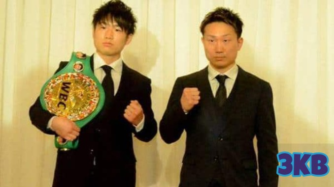 Kenshiro Teraji and Tetsuya Hisada pose for their upcoming April 24 bout