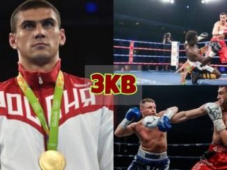 Evgeny Tishchenko with his Olympic Gold medal; Tishchenko professional fight highlights