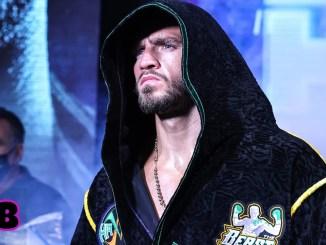 Joe Smith Jr stares at the ring before his entrance.