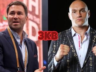 Eddie Hearn (left), Tyson Fury