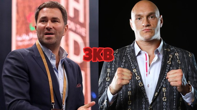 Eddie Hearn (left), Tyson Fury