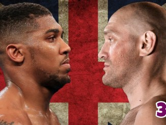 Anthony Joshua face-to-face with Tyson Fury