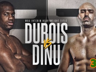 Banner for Daniel Dubois v Bogdan Dinu WBA Interim Heavyweight title bout
