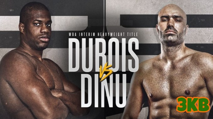Banner for Daniel Dubois v Bogdan Dinu WBA Interim Heavyweight title bout