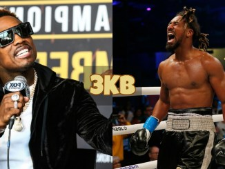 Jermell Charlo yells at the media; Demetrius Andrade screams at the crowd after victory.