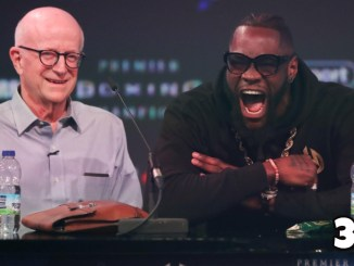 Heavyweight contender Deontay Wilder with manager Shelly Finkel