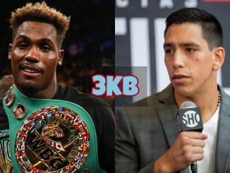 Jermall Charlo looks confused; Juan Macias Montiel answers a question