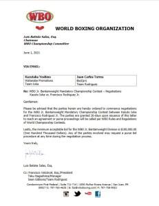 WBO orders Ioka v Rodriguez