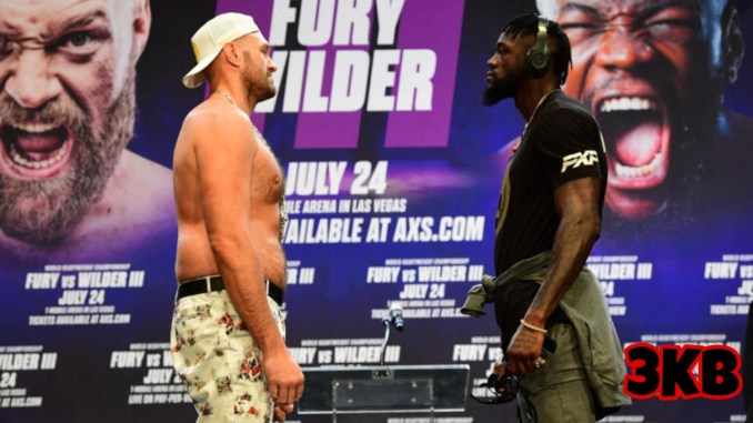 Tyson Fury and Deontay Wilder face-off
