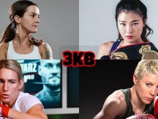 World Boxing Super Series candidates: WBC Women's World champion Terri Harper, WBA Super Featherweight champion Hyun-Mi Choi, IBF Women's Super Featherweight champion Maiva Hamadouce, WBO Women's champion Mikaela Mayer