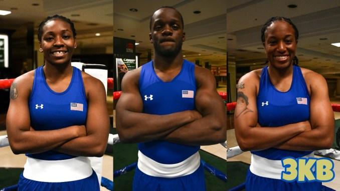 US Boxing team members Rashida Ellis, Troy Isley, Naomi Graham