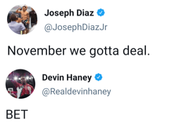 Devin Haney and Joseph Diaz agree to fight in November