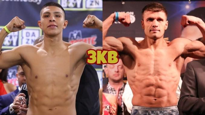Middleweight world title contenders Jaime Munguia and Sergiy Derevyanchenko