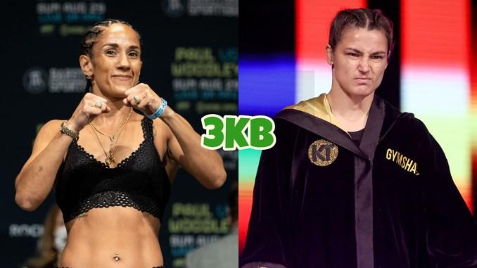 Seven-divisional champion Amanda Serrano, undisputed female lightweight champion Katie Taylor