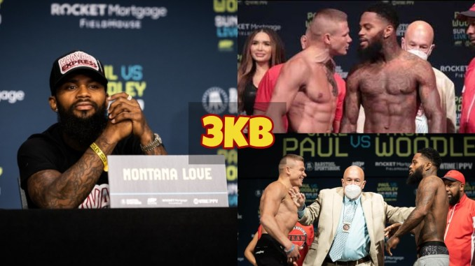 Montan Love listen to question at a press conference; Love and Ivan Baranchyk face-off.