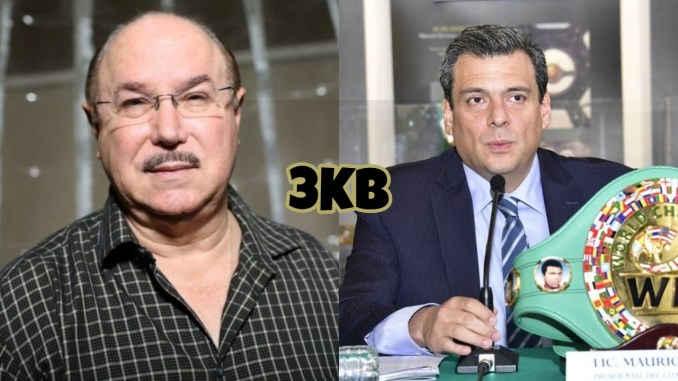 SNAC founder Victor Conte, Mauricio Sulaiman speaks into a microphone