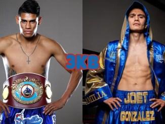 WBO featherweight champion Emanuel Navarrate, Joet Gonzalez