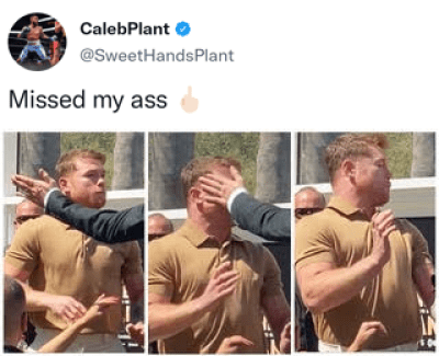 Caleb Plant shows proof he connected with his swing at Canelo Alvarez