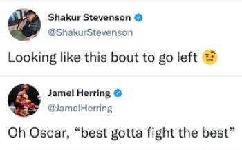 Shakur Stevenson and Jamel Herring respond to the call-out by Oscar Valdez