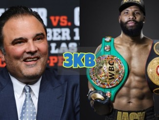 Richard Schaefer flashes a smile; Badou Jack with two titles over his shoulders.