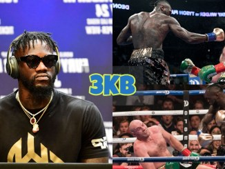 Deontay Wilder lands punches and knocks Tyson Fury down twice.